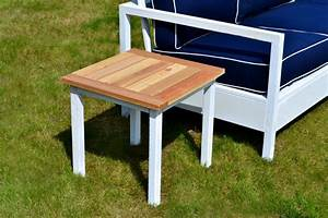 Simple, White, Outdoor, End, Table