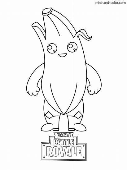 Fortnite Coloring Pages Peely Fishstick Royale Battle