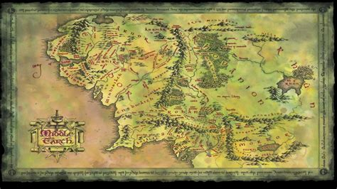 map  middle earth wallpaper wallpapertag