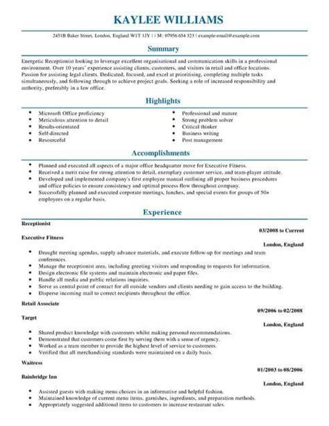 admin cv templates cv sles exles