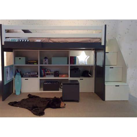 lit mezzanine avec bureau pour ado chambre ado fille avec lit mezzanine chambre fille avec
