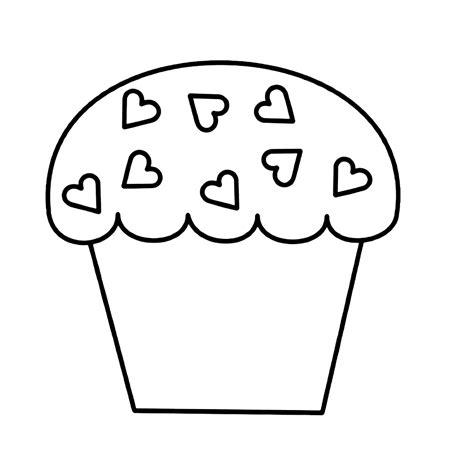 Kleurplaat Gebakjes by Cupcakes Kleurplaten Kleurplatenpagina Nl Boordevol