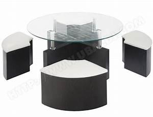 Table Basse Pouf Intégré : table basse avec pouf solde le bois chez vous ~ Dallasstarsshop.com Idées de Décoration