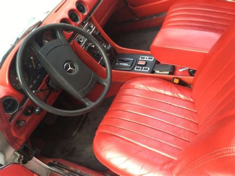 mercedes slc red leather interior classic