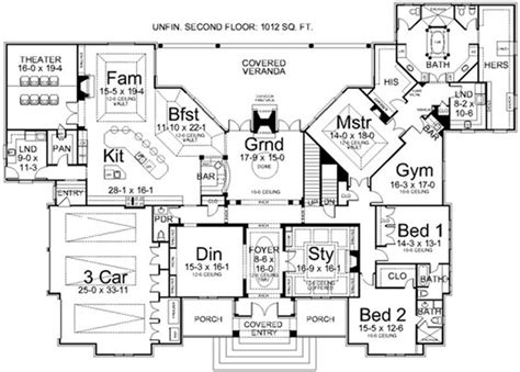one story luxury home plans luxury style house plans 5194 square foot home 1 story