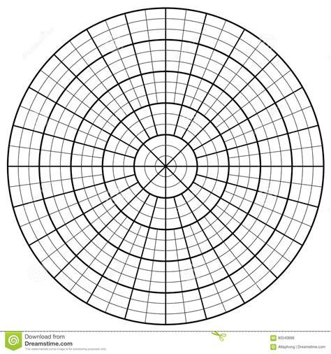 blank polar graph paper protractor pie chart vector