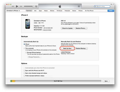 how to backup iphone from itunes ios 7 what you need to before updating