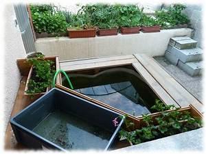 Bac à Poisson Extérieur : bassin hors sol exemple de construction l 39 aquaramiaud ~ Teatrodelosmanantiales.com Idées de Décoration