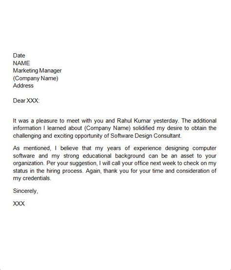 professional   letters sample templates