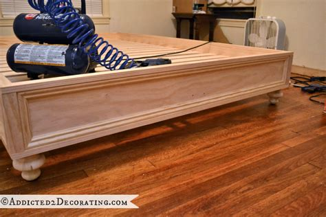 make a bed frame diy wooden bed frame with storage woodproject
