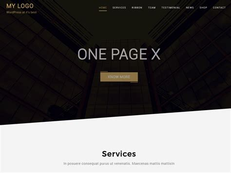 One Page Theme One Page X Org