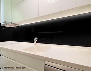 130x50cm glas schwarz glas k chenr ckwand spritzschutz for Glas küchenrückwand fliesenspiegel