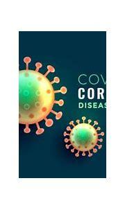 Coronavirus covid-19 disease banner with two viruses ...