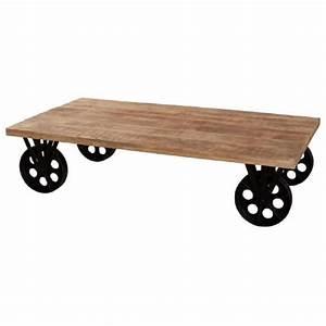 Table Basse Sur Roulette : oxford table basse sur roulettes style industriel en ~ Melissatoandfro.com Idées de Décoration