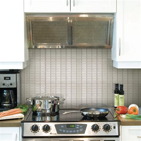 smart tiles kitchen backsplash smart tiles stainless 10 625 in w x 10 00 in h 5573