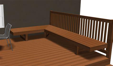 deck bench plans benches decks home decoration club
