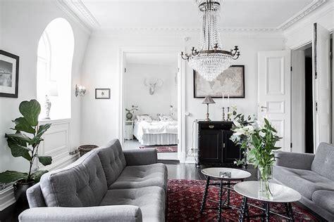 Scandinavian Home Design Combining White, Black And