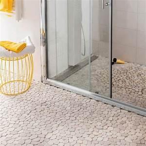carrelage sol et mur galet castorama salle de bain With sol en galets salle de bain