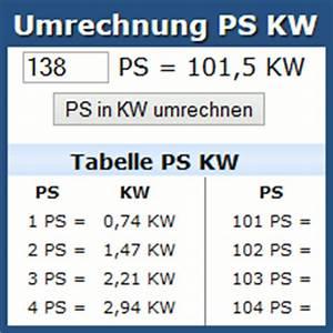 Ps Kw Rechnung : umrechnung ps kw online rechner und tabelle ~ Themetempest.com Abrechnung
