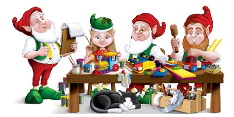 Santa S Workshop Wallpaper Animated - elves working
