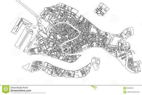 map   city  venice italy stock illustration