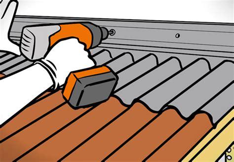 Dachpappe Und Dachplatten by Dach Decken Mit Bitumenwellplatten Obi Ratgeber