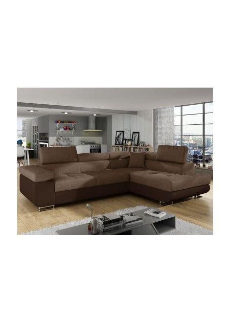 canapé d angle tissu marron canape d 39 angle convertible en simili cuir marron et tissu