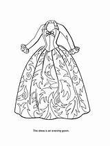 Coloring Pages Dress Barbie Princess Sheets Printables Olds Gown Victorian Bratz sketch template