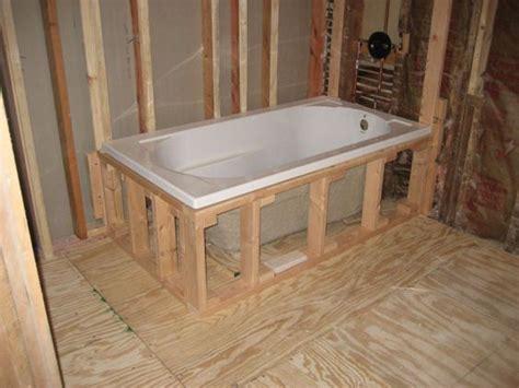 drop  bathtub installation random stuff pinterest