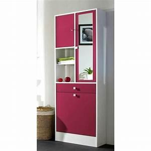 armoire salle de bain pas cher With meuble rangement salle de bain pas cher