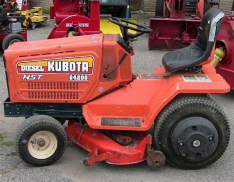 kubota garden tractor kubota g3200 g4200 g4200h g5200h g6200h lawn garden