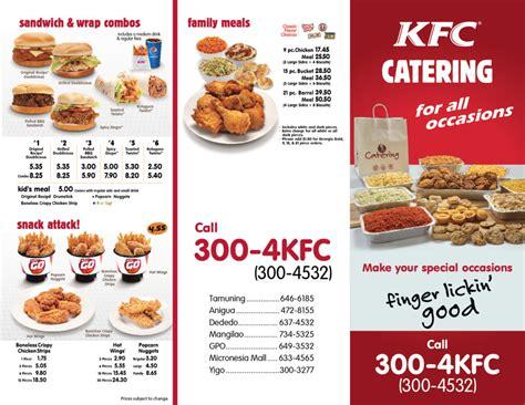 Kfc Catering Menu