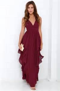maroon bridesmaid dress beautiful burgundy maxi dress prom dress bridesmaid dress 98 00