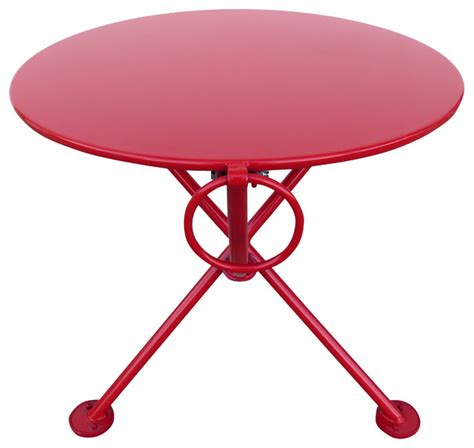 """The coffee comes packed in a thick cellophane bag, packed by the kilogram, and the 20 kilograms would go in a cardboard box for shipment. French Cafe Bistro 3-Leg Folding Coffee Table, Flame Red, 20"""" Round Metal Top - Contemporary ..."""