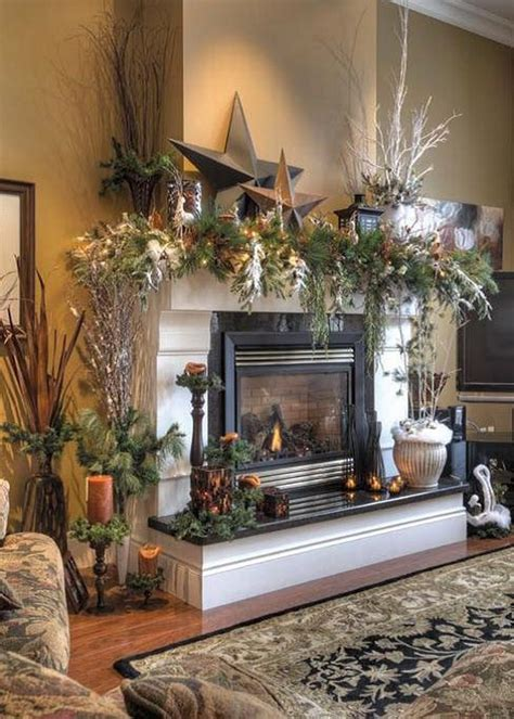 christmas decoration ideas  fireplace ideas  home