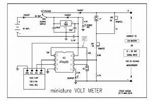 Miniature Volt Meter Cum Battery Voltage Monitor