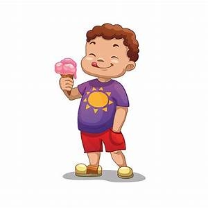 Boy With Ice Cream Clipart - ClipartXtras