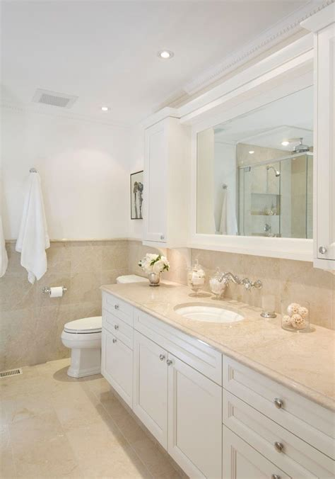 cream colored bathroom beach style with window traditional
