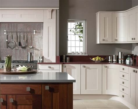 light grey kitchen cabinets grey wall kitchen furnished with pot rack