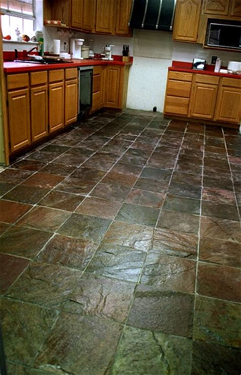 slate floor kitchen types of tile