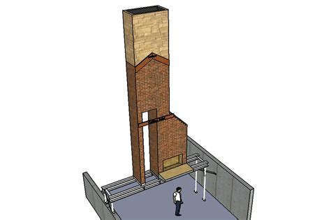 supporting  brick chimney  structural steel jlc