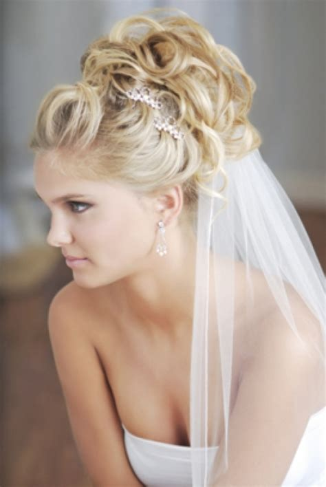 Wedding updos for long hair with vei