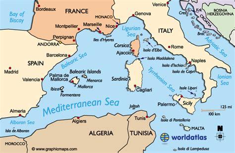 western mediterranean map