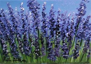 "Floral Painting ""Lavender Field"" an original acrylic on ..."