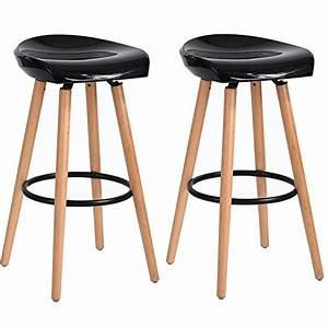 Tabouret De Bar Pied Bois : asuuny tabourets de bar scandinave lot de 2 chaises de ~ Melissatoandfro.com Idées de Décoration