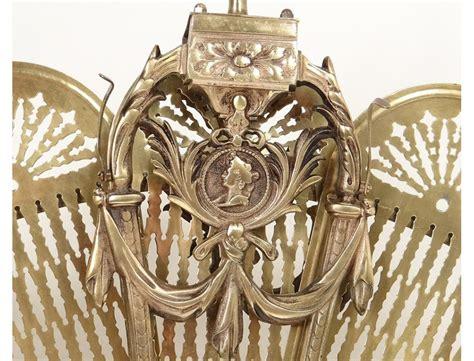 parefeu cheminee pare feu 233 ventail anglais bronze dor 233 profil femme antique