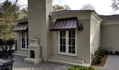 custom metal awnings commercial  residential mobile area  gulf coast artcraft awning