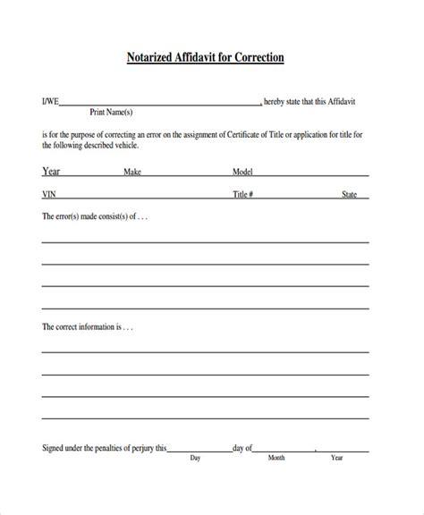 affidavit of consent form 8 consent affidavit form free sle exle format
