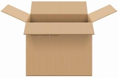Cardboard Open Clip Clipart Kotak Kardus Transparent