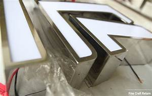 acrylic face lit channel letters for shop sign front with With face lit letters
